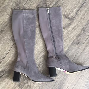 NEW!!! Donald Pliner grey suede tall boots